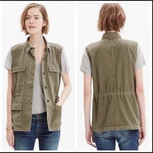 Madewell Oversize Cargo Drawstring Military Vest